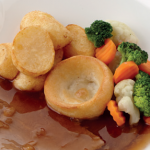 image of Roast beef with Yorkshire pudding